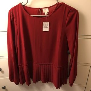 Red blouse from Jcrew